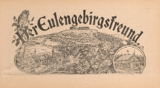 Der Eulengebirgsfreund 1909-01-01 Jg.2 Nr 1