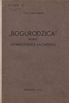 """""""Bogurodzica"""" wobec Hymnografji łacińskiej"""