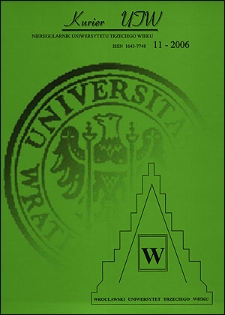 Kurier UTW: nieregularnik Uniwersytetu Trzeciego Wieku Nr 11 2006