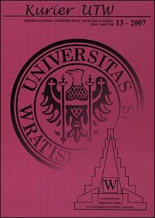 Kurier UTW: nieregularnik Uniwersytetu Trzeciego Wieku Nr 13 2007