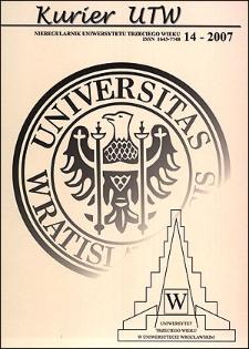 Kurier UTW: nieregularnik Uniwersytetu Trzeciego Wieku Nr 14 2007