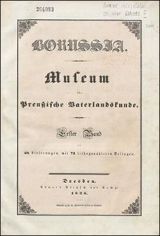 Borussia. Museum für Preußische Vaterlandskunde Bd. 1 (1838), Lief. 10