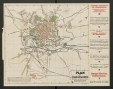 Plan der Stadt Schweidnitz