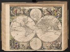 Mappae-monde geo-hydrographique, ou description generale du globe terrestre et aquatique ex deux-plans-hemispheres, ou sont exactement remarquees en general toutes les parties de la terre et de l'eau suivant les relations les plus nouvelles