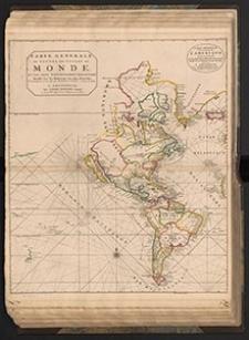 Carte Generale des Costes de l'Amerique, sur l'Ocean et les Pays Nouvellement decouvert : Dressé sur les Relations les plus Nouvelles