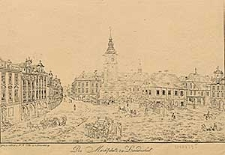 Der Marktplatz zu Landeshut