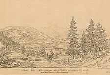 Ansicht des Riesengebirges bei Drehhaus ohnweit Buchwald