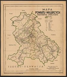 Mapa powiatu Wałbrzych : województwo wrocławskie