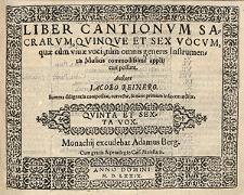 Liber cantionum sacrarum, quinque et sex vocum [...] Quinta et sexta vox