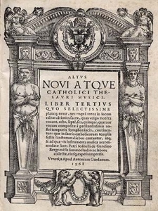 Novi atque catholici thesauri musici. Liber tertius [...]