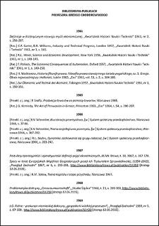 Bibliografia publikacji profesora Jerzego Chodorowskiego