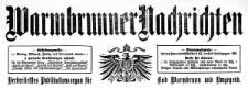 Warmbrunner Nachrichten. Verbreitetstes Publikationsorgan für Bad Warmbrunn und Umgegend. 1910-01-01 Jg. 28 Nr 1