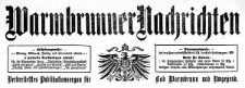 Warmbrunner Nachrichten. Verbreitetstes Publikationsorgan für Bad Warmbrunn und Umgegend. 1910-02-01 Jg. 28 Nr 18