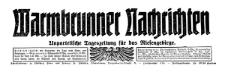 Warmbrunner Nachrichten. Unparteiische Tageszeitung für das Riesengebirge 1925-04-22 Jg. 44 Nr 92 [93]
