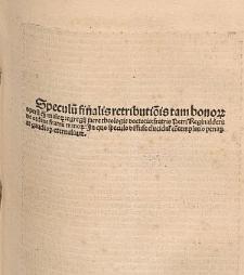 Speculum finalis retributionis / Ed. Guillermus Totanus