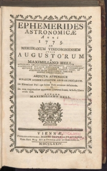 Ephemerides AstronomicÆ Anni 1775
