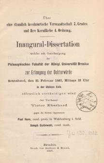 Über eine räumlich involutorische Verwandtschaft 7. Grades und ihre Kernfläche 4. Ordnung